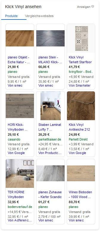 Klick Vinyl auf Google bestellen